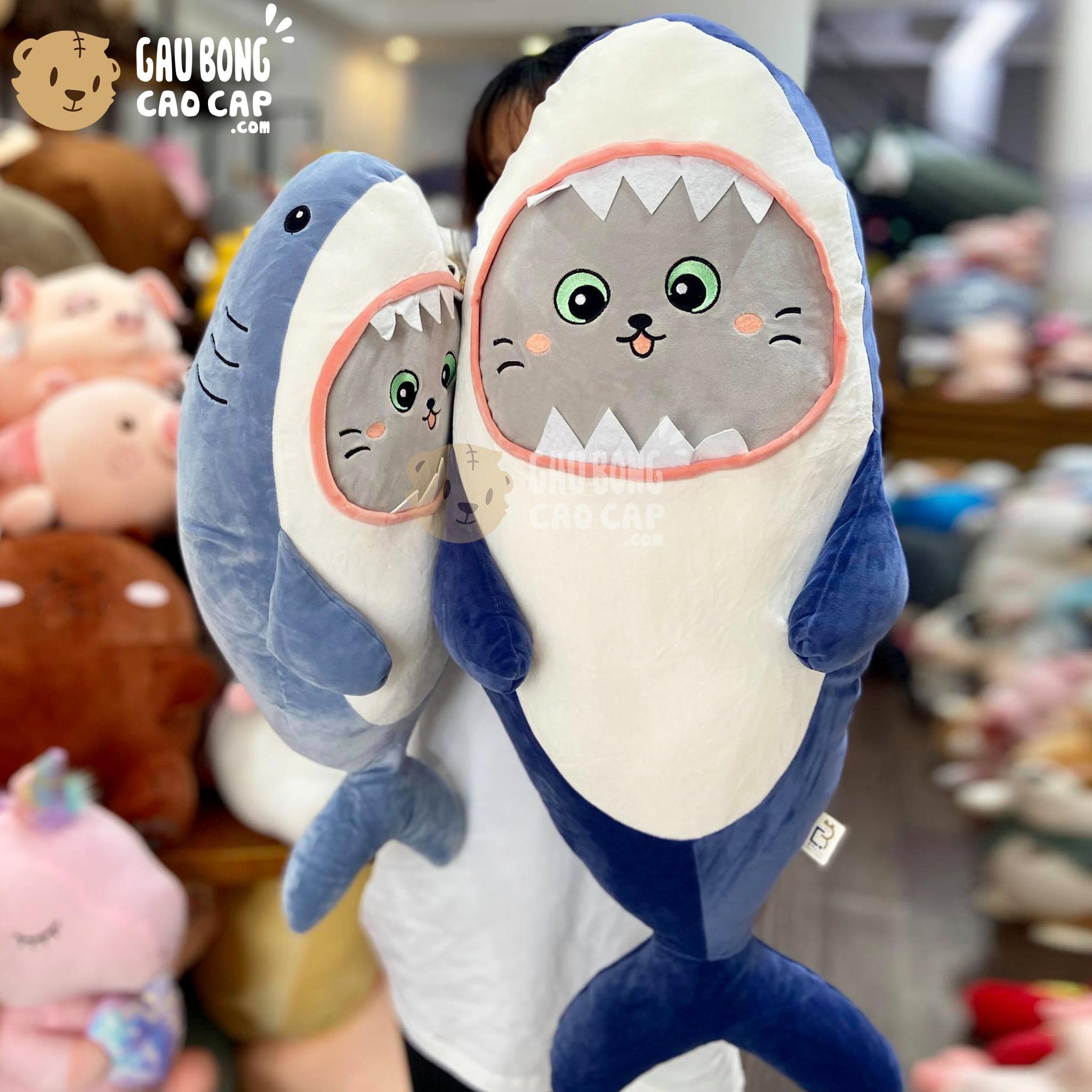 Cá Mập bông baby mặt Mèo