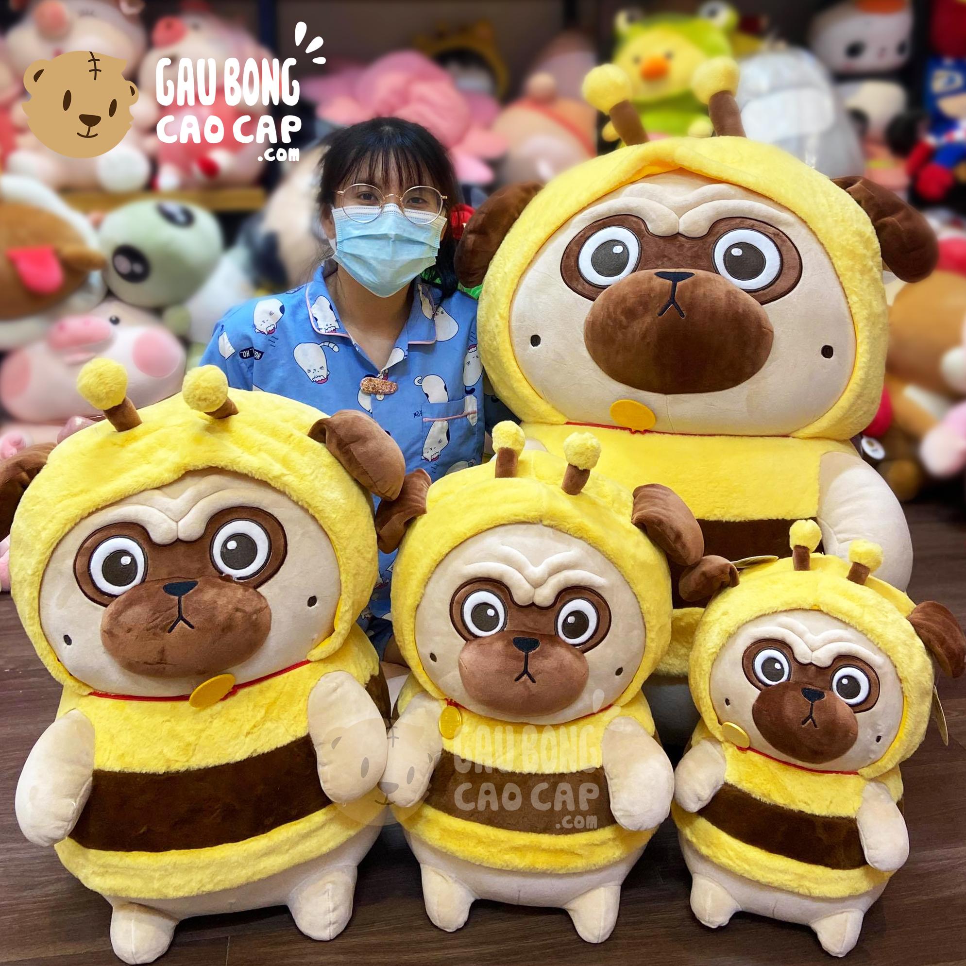Chó Bông Nô Tài mặt xệ cosplay Ong Vàng
