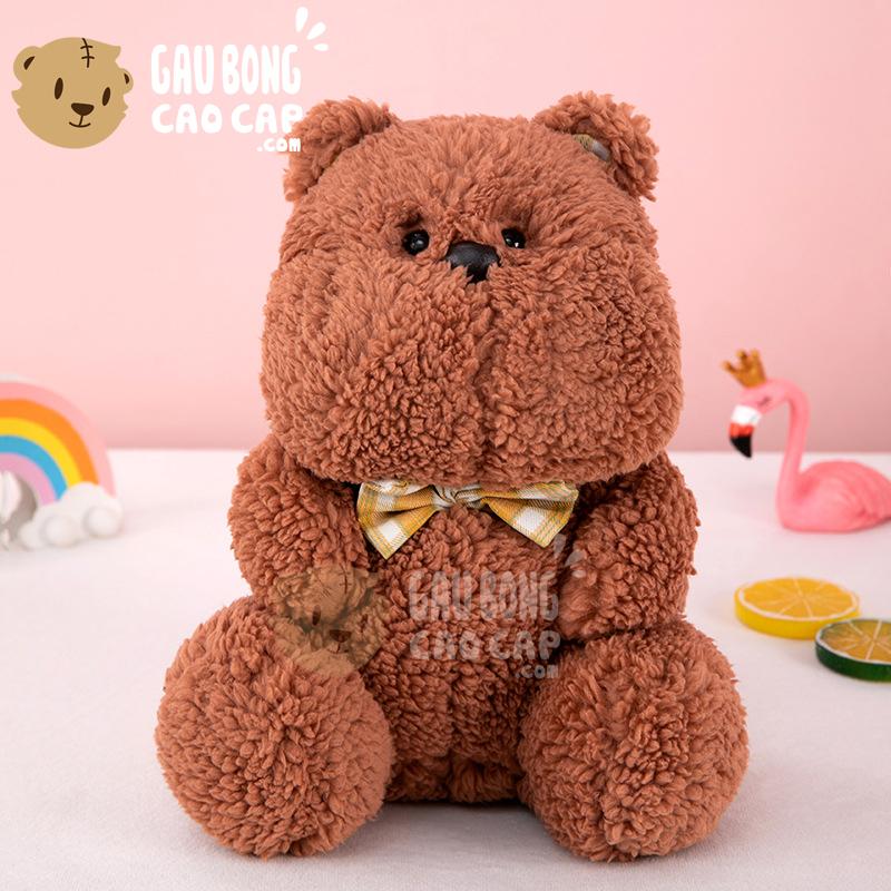Gấu Bông Má Bự lông cừu êm mịn