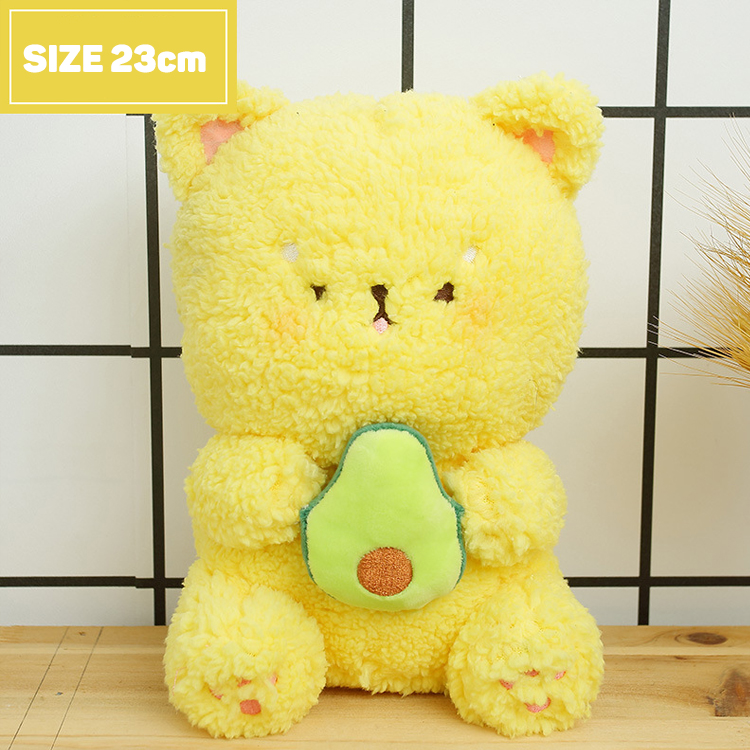 Gấu Bông Má Bự ôm trái cây lông cừu êm mịn