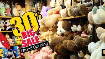 Chương trình Big Sale dịp Khai Trương nhà mới của Gấu